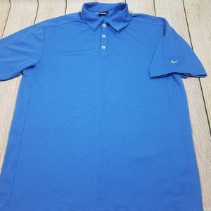 Nike Golf Fit Dry Mens Polo Shirt Blue medium